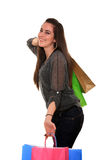 Happy girl with shopping bags Stock Image