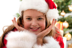 Happy young girl smiling Stock Photo
