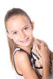 Happy young girl smiling Royalty Free Stock Images