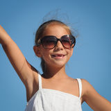 Happy Young Girl On Summer Holidays Royalty Free Stock Photos