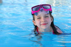 Happy young girl in water Royalty Free Stock Photos