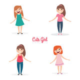 Happy young girls Royalty Free Stock Photo