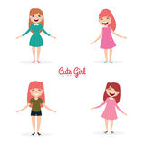 Happy young girls Royalty Free Stock Photography