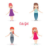 Happy young girls Stock Image