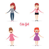 Happy young girls Royalty Free Stock Images