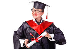 Happy young grad Royalty Free Stock Photos