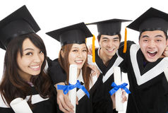 Young graduate students group Royalty Free Stock Photo