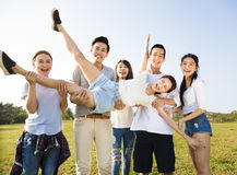 Happy young  group having fun together Royalty Free Stock Images