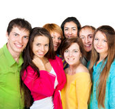 Happy young group of people Royalty Free Stock Images