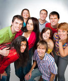 Happy young group of people Royalty Free Stock Photos
