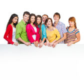Happy young group of people Stock Photo