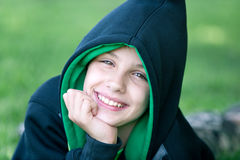 Happy young hip-hop dancer Stock Photo