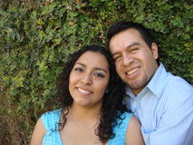 Happy, young Hispanic Couple in love Royalty Free Stock Photos