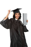 Happy Young Hispanic Graduate Student Royalty Free Stock Photography