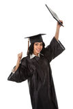 Happy Young Hispanic Graduate Student Royalty Free Stock Photo