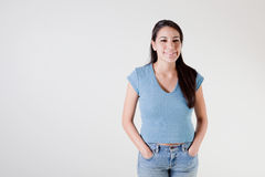 Happy young hispanic woman Royalty Free Stock Image