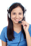 Happy young Indian call center Stock Photo