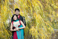 Happy Young Indian Couple Posing Stock Photo