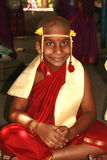 Happy young Indian monk Stock Image
