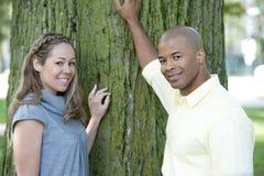 Happy Young Interracial Couple Royalty Free Stock Photos