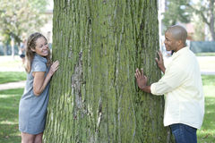 Happy Young Interracial Couple Royalty Free Stock Image