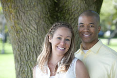 Happy Young Interracial Couple Stock Photo