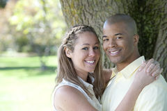 Happy Young Interracial Couple Royalty Free Stock Photo