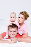 Happy young and joyful family people Royalty Free Stock Photos