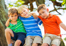 Happy Young Kids Royalty Free Stock Photos