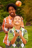 Happy young kids smiling and laughing. Stock Images