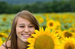 A happy young lady. Royalty Free Stock Photography