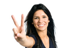 Happy young latin woman Stock Images