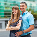 Happy young love couple Stock Photography