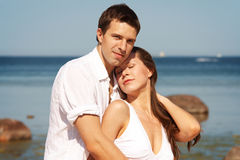 Happy young lovers Stock Photography