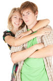 Happy young loving couple Royalty Free Stock Photo