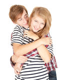 Happy young loving couple embracing Royalty Free Stock Photo