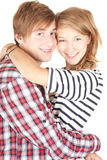 Happy young loving couple embracing Stock Photography