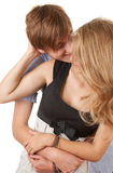 Happy young loving couple embracing Stock Images