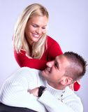 Happy Young loving couple  smile Royalty Free Stock Photography