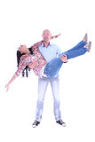 Happy young loving couple. On white background Royalty Free Stock Photography