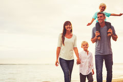 Happy Young Loving Family Royalty Free Stock Image