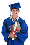 Happy Young Male Graduate Holding Laptop Royalty Free Stock Images