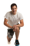 Happy Young Male Workout Stock Photo