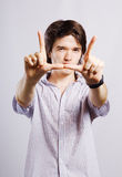 Happy young man. Royalty Free Stock Photos