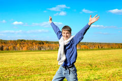 Happy young man Stock Photos