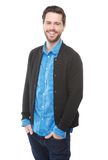 Happy young man with beard smiling Stock Photography