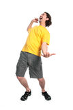 Happy young man dancing Royalty Free Stock Photography