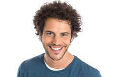 Happy Young Man Face Stock Photo