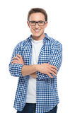 Happy Young Man With Glasses royalty free stock images