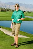 Happy Young Man With Golf Club royalty free stock photography